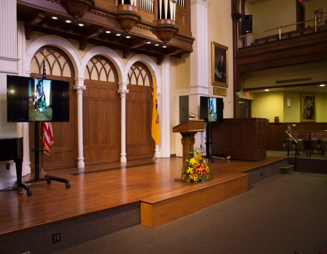 Photo courtesy of Alexis Primavera On Saturday Sept. 21, a memorial service was held in honor of the late Dr. Bobby Fong. While the main service was held in Bomberger Auditorium, video feeds were streamed to Olin Auditorium and Lower Wismer due to the large attendance.