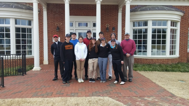 Photo courtesy of Anthony Barbine  Members of the golf team are seen above.  Both teams play next at the Revolutionary Collegiate Classic on march 21 at Elkton, Md.