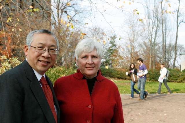 Photo courtesy of Ursinus College Communications The commencement ceremony this year will honor the late Bobby Fong as well as Suzanne Fong.